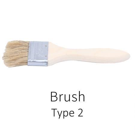 Various types of pig hair brushes